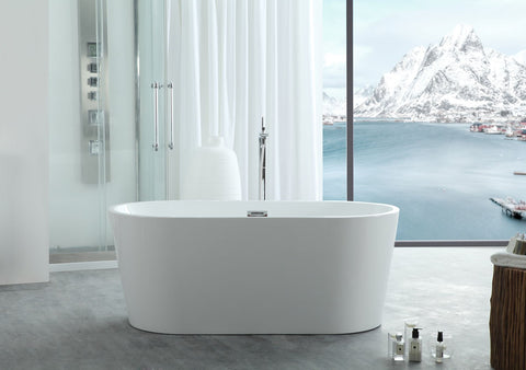 "Image of Virtu USA Serenity 59"" x 29.5"" Freestanding Soaking Bathtub VTU-1159"