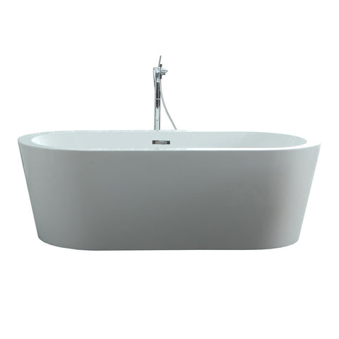 "Image of Virtu USA Serenity 59"" x 29.5"" Freestanding Soaking Bathtub VTU-1259"
