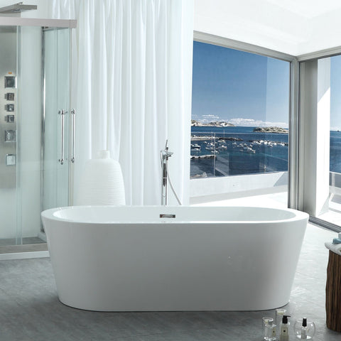 "Virtu USA Serenity 59"" x 29.5"" Freestanding Soaking Bathtub VTU-1259"