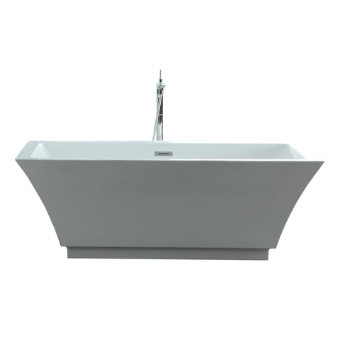 "Image of Virtu USA Serenity 59"" x 29.5"" Freestanding Soaking Bathtub VTU-3159"