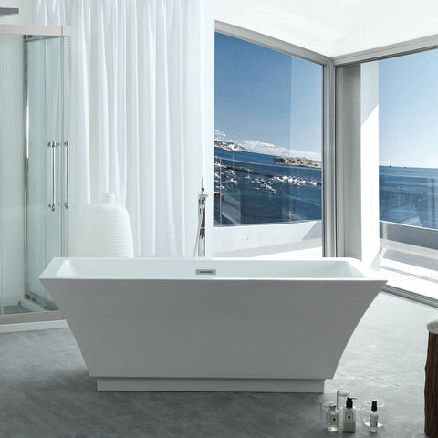 "Virtu USA Serenity 59"" x 29.5"" Freestanding Soaking Bathtub VTU-3159"