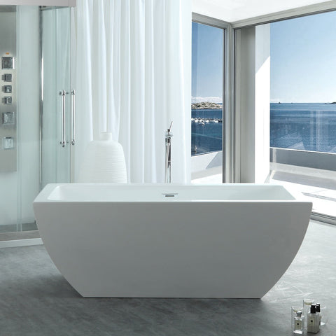 "Virtu USA Serenity 59"" x 29.5"" Freestanding Soaking Bathtub VTU-3659"