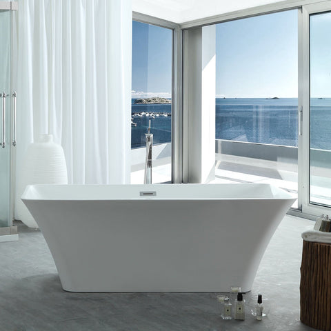 "Image of Virtu USA Serenity 59"" x 29.52"" Freestanding Soaking Bathtub VTU-3059"