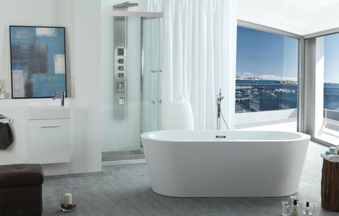 "Virtu USA Serenity 63"" x 29.5"" Freestanding Soaking Bathtub VTU-1263"