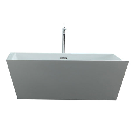 "Virtu USA Serenity 63"" x 29.5"" Freestanding Soaking Bathtub VTU-3263"