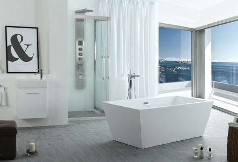 "Image of Virtu USA Serenity 63"" x 29.5"" Freestanding Soaking Bathtub VTU-3263"