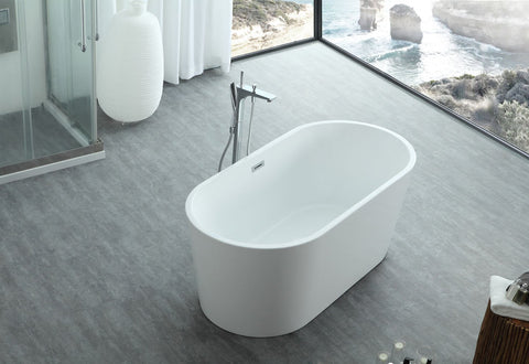 "Virtu USA Serenity 67"" x 31.49"" Freestanding Soaking Bathtub VTU-1167"