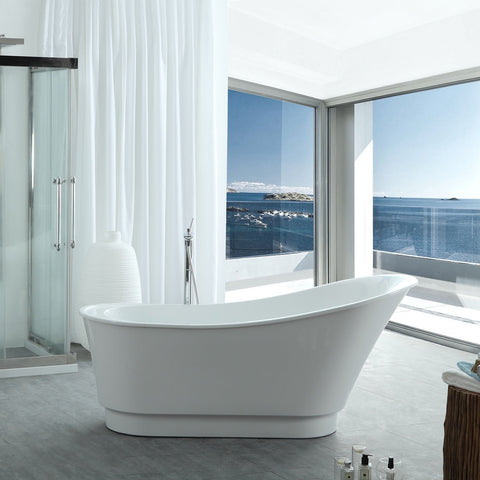 "Virtu USA Serenity 67"" x 31.49"" Freestanding Soaking Bathtub VTU-1467"