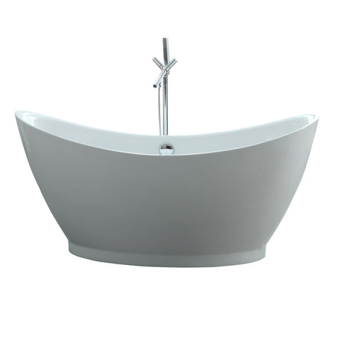 "Image of Virtu USA Serenity 67"" x 31.49"" Freestanding Soaking Bathtub VTU-1667"