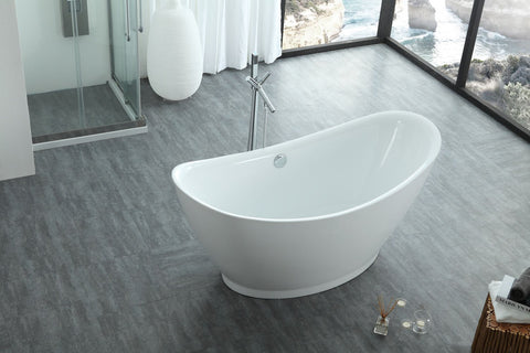 "Virtu USA Serenity 67"" x 31.49"" Freestanding Soaking Bathtub VTU-1667"