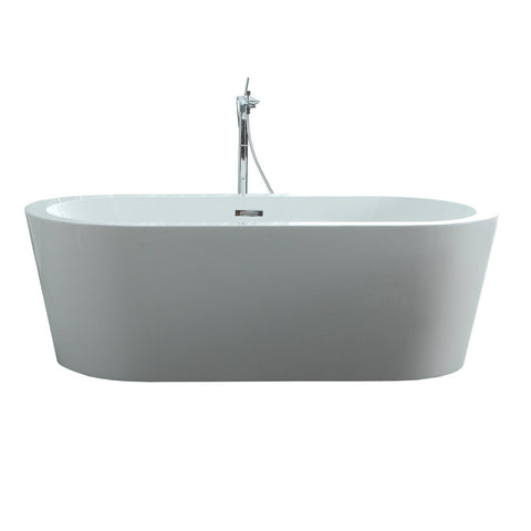 "Virtu USA Serenity 67"" x 31.5"" Freestanding Soaking Bathtub VTU-1267"
