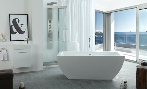 "Image of Virtu USA Serenity 67"" x 31.5"" Freestanding Soaking Bathtub VTU-3667"