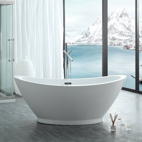 "Image of Virtu USA Serenity 69"" x 33.5"" Freestanding Soaking Bathtub VTU-1769"