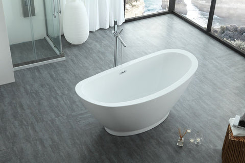 "Virtu USA Serenity 69"" x 33.5"" Freestanding Soaking Bathtub VTU-1769"
