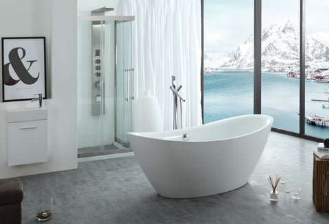 "Image of Virtu USA Serenity 71"" x 34.64"" Freestanding Soaking Bathtub VTU-1571"