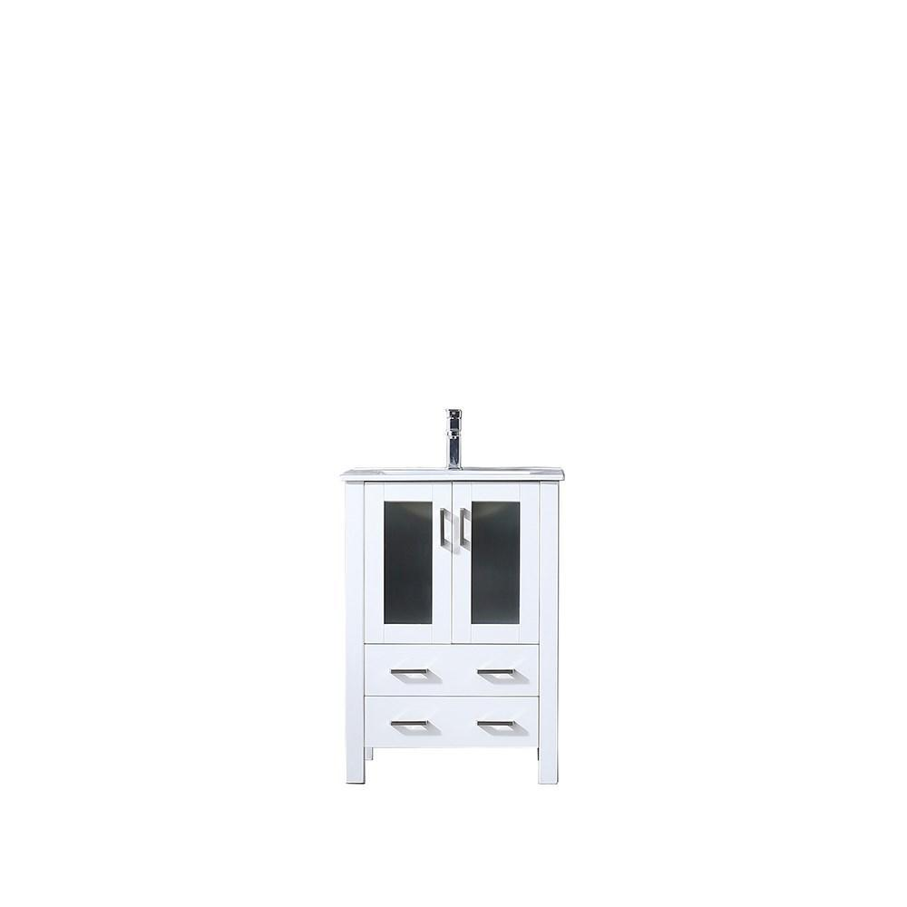 "Volez 24"" Single Bathroom Vanity Cabinet Integrated Top Integrated Square Sink LV341824SAES000"