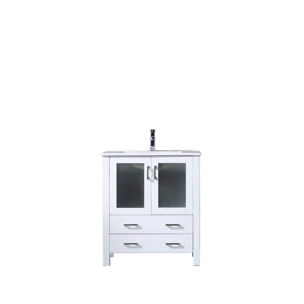 "Volez 30"" Single Bathroom Vanity Cabinet Integrated Top Integrated Square Sink LV341830SAES000"