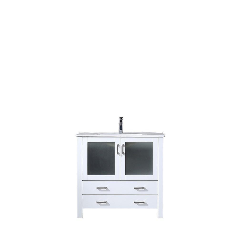 "Volez 36"" Single Bathroom Vanity Cabinet Integrated Top Integrated Square Sink LV341836SAES000"