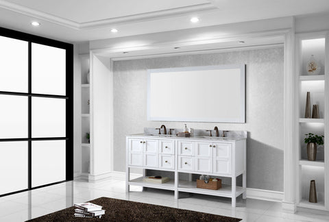 "Winterfell 72"" Double Bathroom Vanity ED-30072-WMSQ-ES"