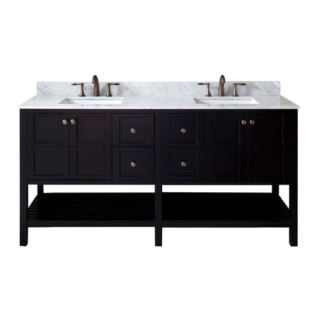"Winterfell 72"" Double Bathroom Vanity ED-30072-WMSQ-ES-NM"