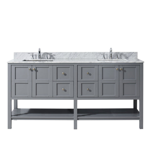 "Winterfell 72"" Double Bathroom Vanity ED-30072-WMSQ-GR"