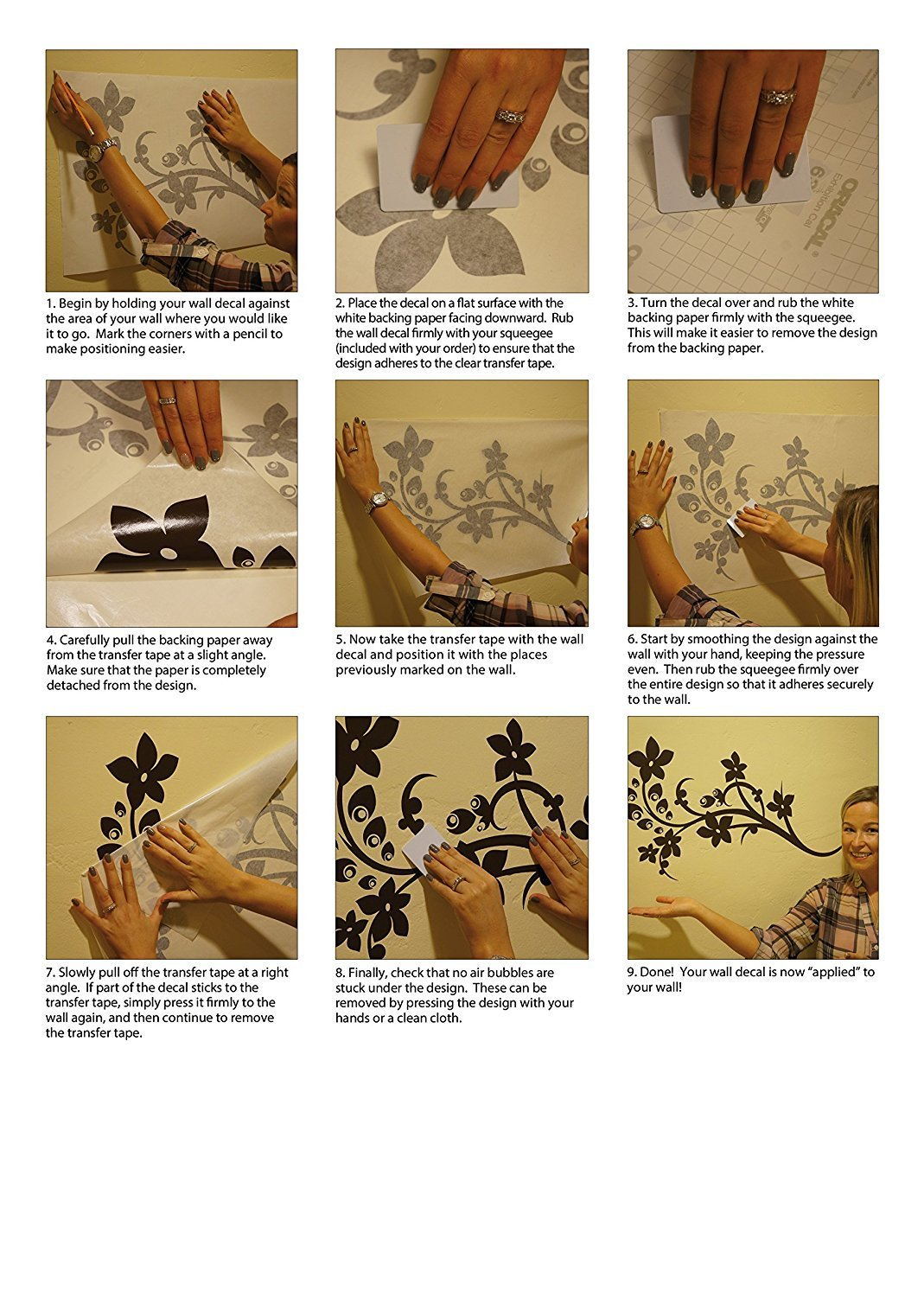 Wall decal application instructions style and apply step by step instructions wall decal application tutorial amipublicfo Image collections