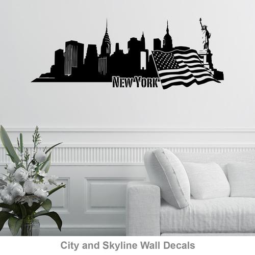 City And Skyline Wall Decals Part 69