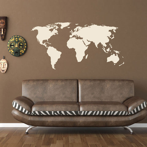 World map Wall Decal - educational wall decals