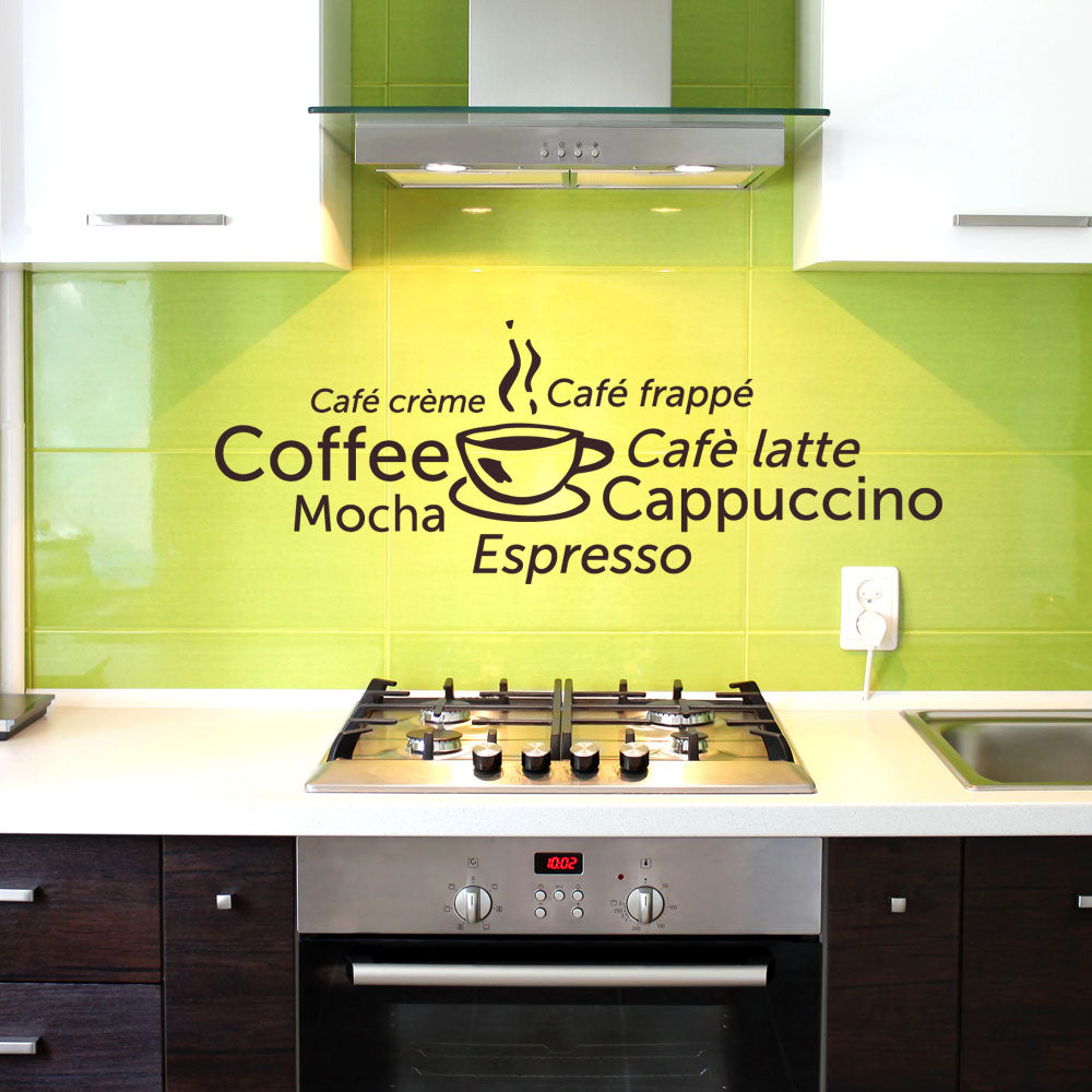 Coffee World-Wall Decals-Style and Apply