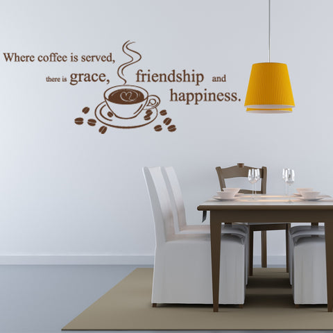 Coffee is Served Wall Decal & Coffee Wall Decals | Coffee Decals | Kitchen Decals | Cocktail ...