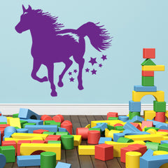 Running Horse-Wall Decals-Style and Apply