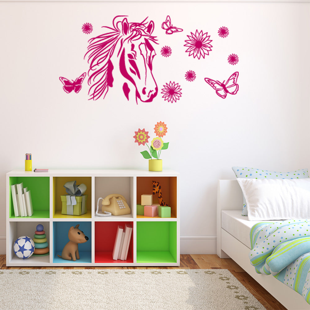 Exceptional Flower Horse Decal Wall Decals Style And Apply