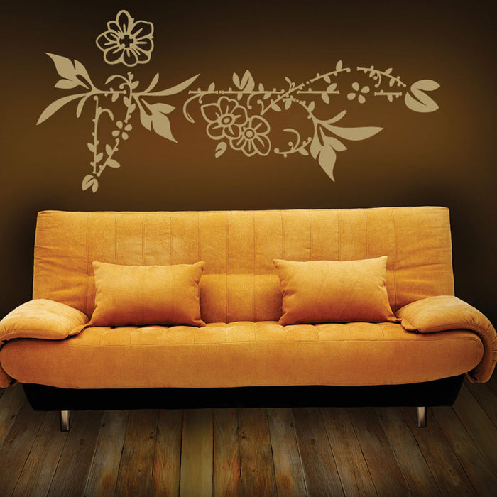 Flower Border Wall Decal