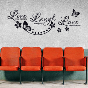 Live, Laugh Quote-Wall Decals-Style and Apply