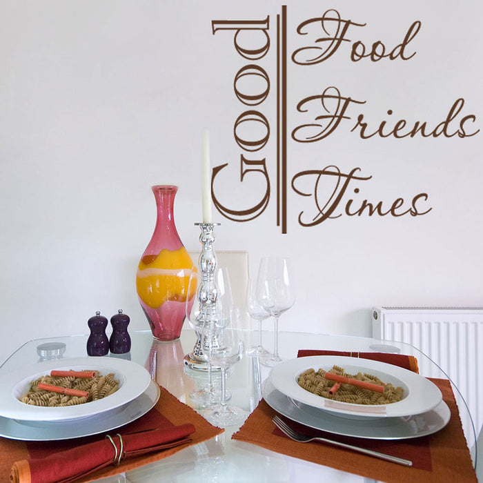 Good Friends Wall Decal Quote