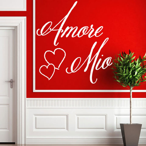 Amore Mio Wall decal Quote