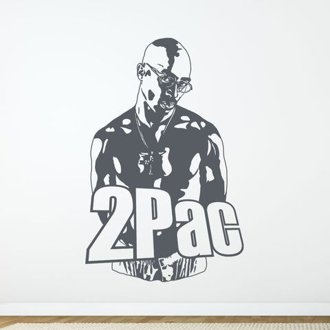 2 Pac-Wall Decal
