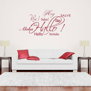 Hallo - Salut - Aloha-Wall Decal