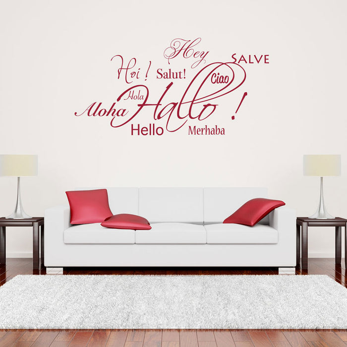 Hallo - Salut - Aloha Wall Decal