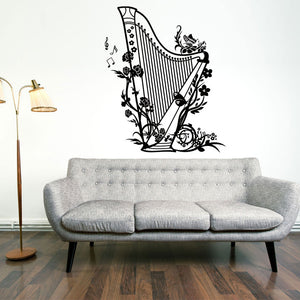 Harp Wall Decal