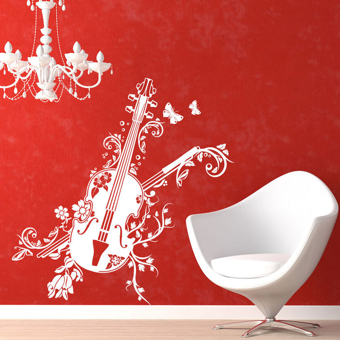 Blossom Violin Wall Decal