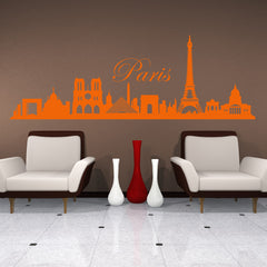 Paris Skyline Decal-Wall Decals-Style and Apply