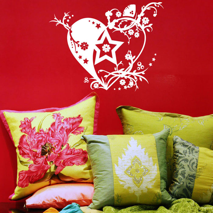 Tendril Heart Wall Decal