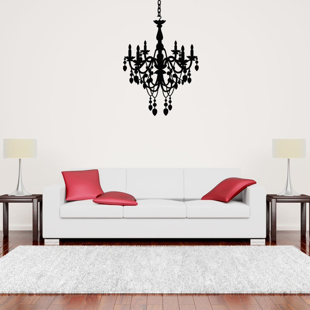 Lovely Chandelier Wall Decals Style And Apply