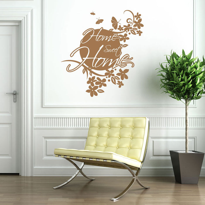 Home Sweet Home Wall Decal Quote