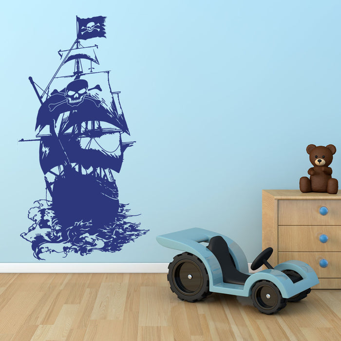 Henry Morgan Pirate Ship Wall Decal