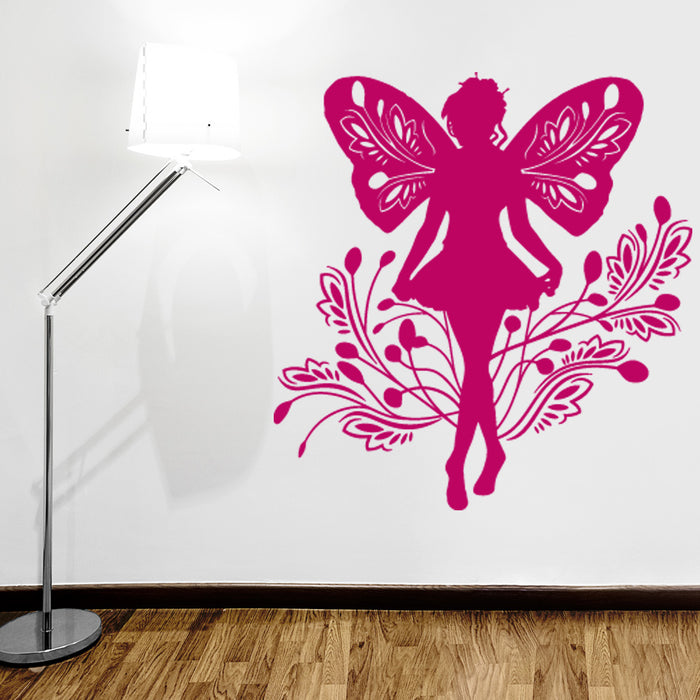 Fairy Curtsying Wall Decal