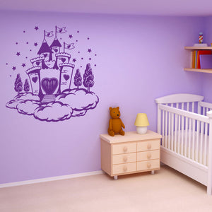 Cloud Castle-Wall Decals-Style and Apply