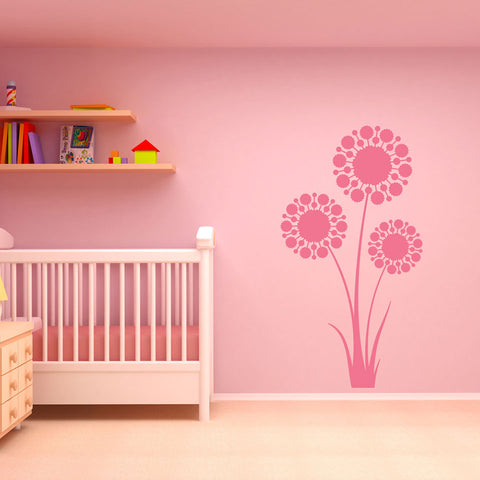 3 Dandelions Wall Decal