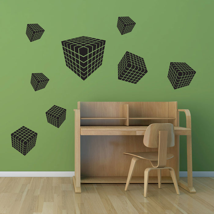 3D Dice Wall Decal